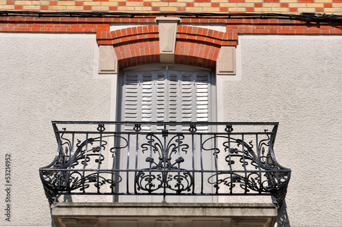 canvas print picture balcon en fer forgé