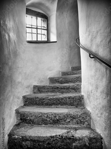 old staircase - 53215147