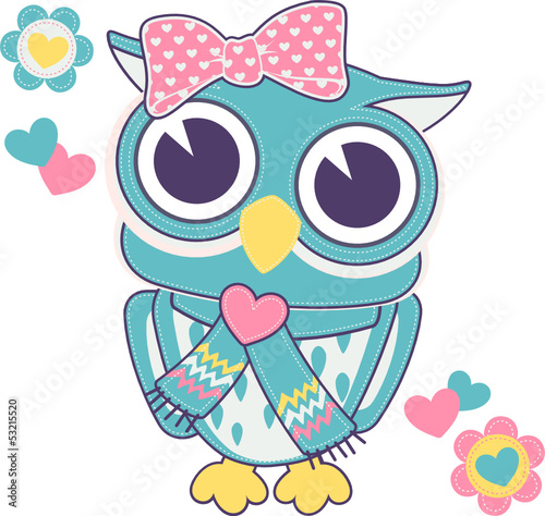 cute baby girl owl