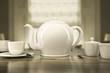 teapot and teacups