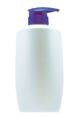 Plastic Clean White Bottle With blue  Dispenser Pump