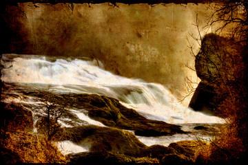 Retroplakat - Wasserfall III
