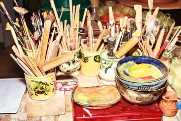outils de potier