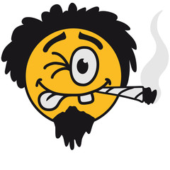 Cool Joint Smoker Smiley Face Design
