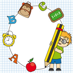 Education and school icon set. Space for text or photo