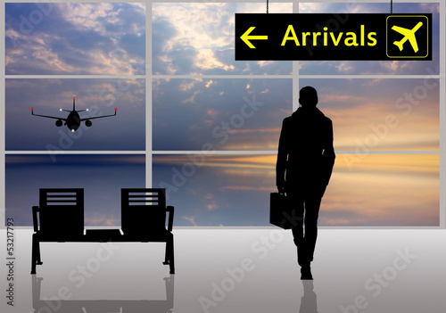 Arrivals in airport