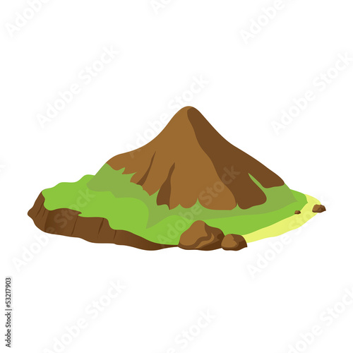 Vector mountain landscape illustration