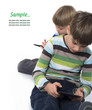 boys playing games on tablets