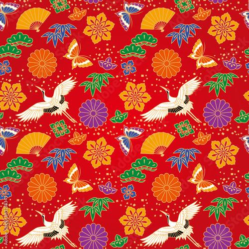 壁纸折纸插图新年