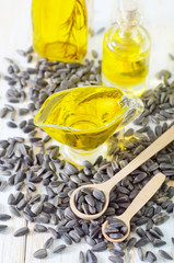 sunflower seeds and oil