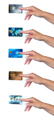 woman hand with credit card