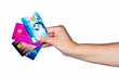 woman hand with credit cards