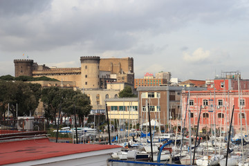 Castel nuovo from the Harbour, Naples