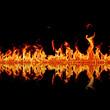 Flamme gespiegelt