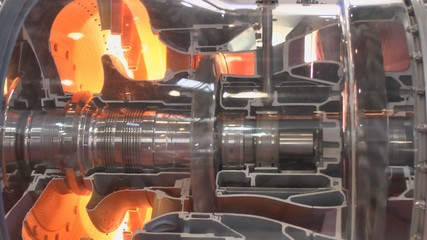 Model of a gas turbine engine