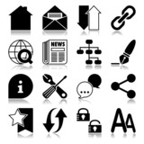 Web icons with reflection