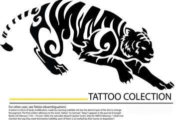 Tiger silhouette design