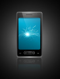 Mobile smartphone original reflection design vector
