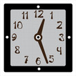 square clock vector on white background