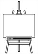 artist's easel tripod on white background