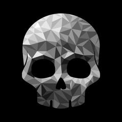 Diamonds skull
