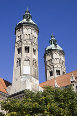 The two towers of cathedral in Naumburg city, Germany