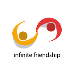 Vector logo infinite friendship