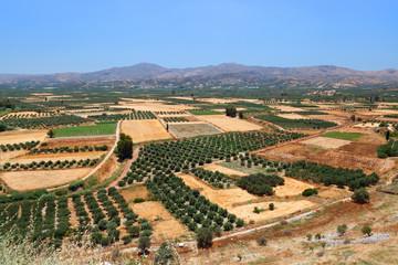 Amazing  landscape of Crete island.