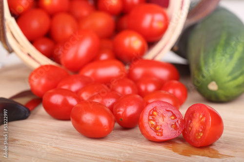 Tomatoes on Cutting Board