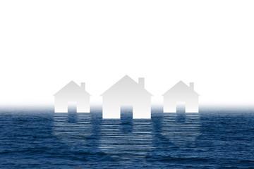Häuser im Wasser