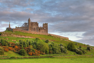 The Rock of Cashel at sunset
