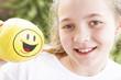 bella bambina sorridente