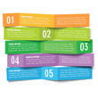 vector five options paper banners