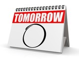 Tomorrow calendar