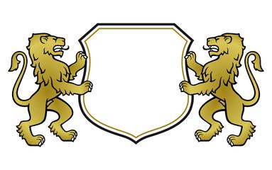 schreitende Löwen Wappen