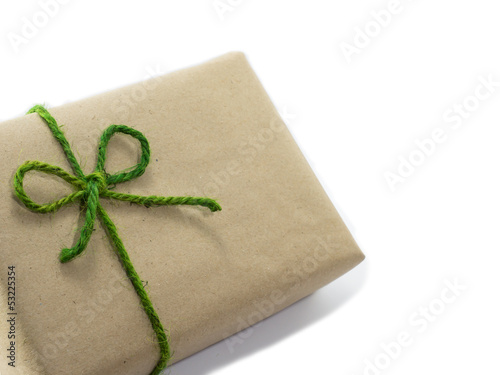 Gift and green bow