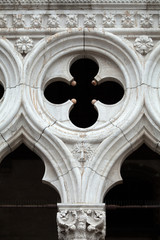 Venice - tracery from the Doge's Palace,