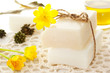 Bars of soap with yellow flowers