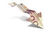 Euro Bank Note Downward Trend Arrow