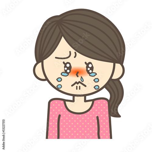 号泣する女性