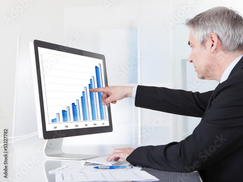 Mature Businessman Looking At Computer