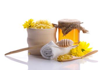 spa still with honey