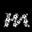 soccer balls letter, 3D alphabet - fussball m