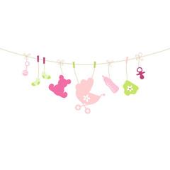 Card Baby Symbols Girl