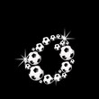 soccer balls letter, 3D alphabet - fussball o