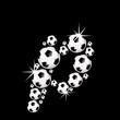 soccer balls letter, 3D alphabet - fussball p