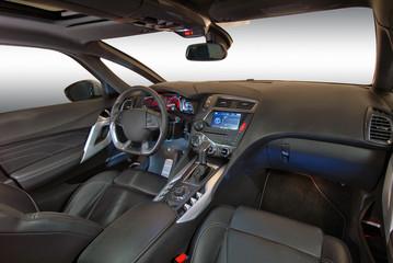 interior of the modern car