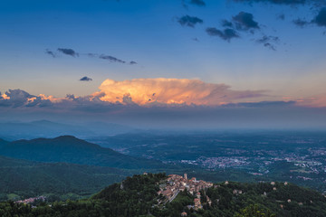 Sacro Monte di Varese and sunset