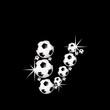 soccer balls letter, 3D alphabet - fussball v