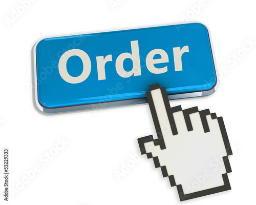 Order button isolated on white background